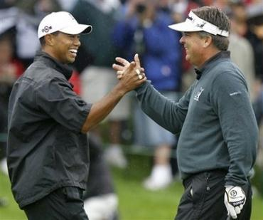Paired in the final group tomorrow, Tiger and Kenny both wouldn't mind sinking the $11 million putt!