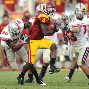 Joe McKnight gained 105 yards vs OSU in '08, but did not score aTD.
