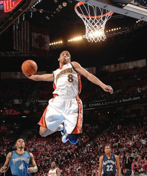 Monta Ellis Dunking Warriors