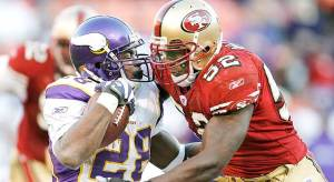 Patrick Willis Adrian Peterson 49ers Vikings