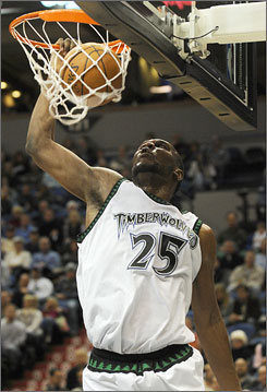 Al Jefferson dunk Minnesota