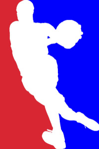 This looks like a fitting new logo for the league. Why keep the old one that has someone dribbling!?!