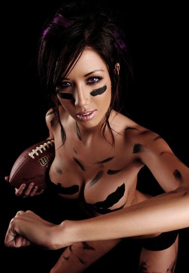 Half Naked Chick Football  Doin Work-3895